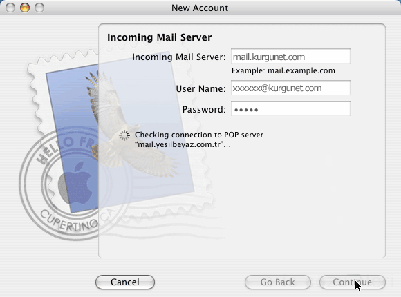 MAC OSX - Apple POP3 Mail Kurulumu